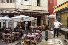 Ресторан в славном, Франция L'Escalinada стоковое фото rf