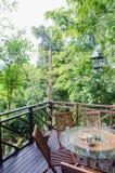 Ресторан в тропическом курорте Стоковые Фото