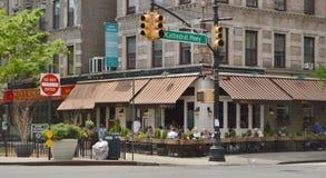 Ресторан в Morningside Heights Нью-Йорке стоковая фотография