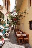 ресторан города старый напольный Стоковое Изображение RF