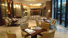 Ресторан гостиницы 5 звезд в Гуанчжоу стоковое изображение rf