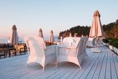Ресторан лета на пляже Стоковые Изображения