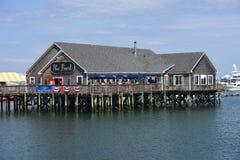 Ресторан жемчуга в гавани Rockland, Мейне Стоковое Изображение RF