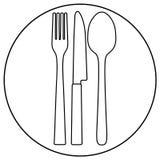ресторан иконы Бесплатная Иллюстрация