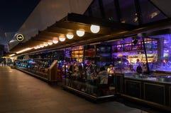 Ресторан и бар ради на Hamer Hall в центральном Мельбурне Стоковые Изображения