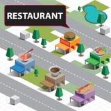 Ресторан карты равновеликий Стоковое Фото
