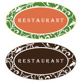 ресторан логоса конструкции иллюстрация штока