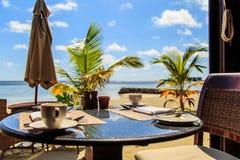Ресторан Мальдивов Стоковые Фотографии RF
