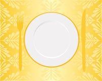 ресторан меню золота Стоковое Изображение RF