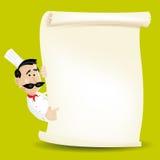 ресторан меню кашевара шеф-повара Стоковое Изображение