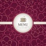 ресторан меню кофейни кафа штанги Стоковое фото RF