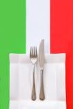 ресторан меню кухни итальянский Стоковые Изображения RF