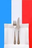 ресторан меню кухни французский Стоковое Изображение
