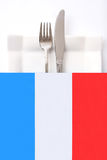 ресторан меню кухни французский Стоковое Фото