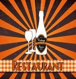 ресторан меню ретро иллюстрация вектора