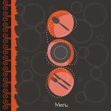 ресторан меню иллюстрация штока