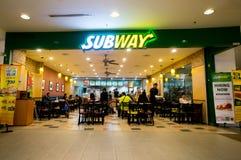 Ресторан метро Стоковое Фото