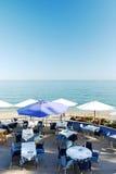 Ресторан на пляже Стоковое фото RF