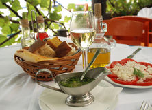 ресторан обеда напольный Стоковая Фотография