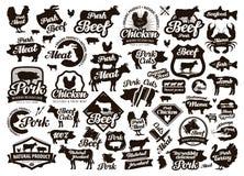 Ресторан, логотип вектора кафа еда, мясо или меню, варя значок иллюстрация вектора