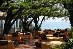 ресторан озера Италии garda Стоковая Фотография RF