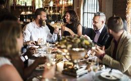 Ресторан охлаждая вне концепцию первоклассного образа жизни сдержанно Стоковое Изображение RF