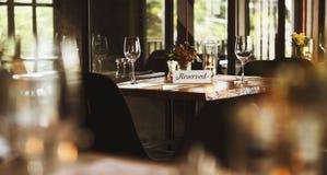 Ресторан охлаждая вне концепцию первоклассного образа жизни сдержанно Стоковая Фотография RF