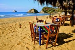ресторан пляжа уютный мексиканский Стоковые Фотографии RF