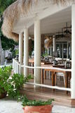 ресторан пляжа штанги Стоковое фото RF