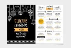 Ресторан приглашения рождественской вечеринки Рогулька еды бесплатная иллюстрация