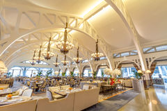 Ресторан пристани Клиффорда на гостинице залива Fullerton стоковые изображения