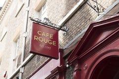 Ресторан румян кафа подписывает внутри Йорк, Йоркшир, Великобританию - 4-ое августа 2 стоковые изображения rf