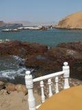 Ресторан стороны моря Стоковые Изображения