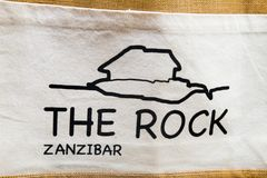 Ресторан утеса в Занзибаре, Стоковая Фотография