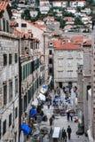 Ресторан улицы в Дубровнике стоковая фотография