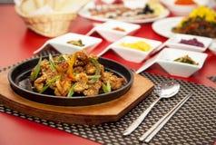Ресторан фото таблицы мяса еды снял 6 Стоковое фото RF