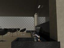 ресторан 3d Стоковое Изображение RF