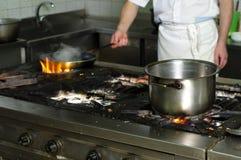 ресторан grungy кухни старый Стоковая Фотография