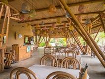 Ресторан Kapal Bambu в Ecolodge Bukit Lawang, Индонезии Стоковое фото RF
