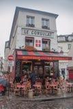 Ресторан Le Consulat, Montmartre, Париж стоковое фото rf