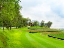 Ресторан na górze холма плантации чая Стоковое Фото