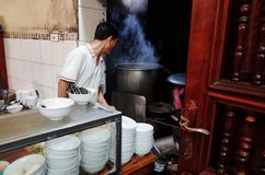 Ресторан Pho лапши риса Стоковые Изображения RF