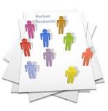 ресурсы людей страницы письма дела людские Стоковое Изображение RF