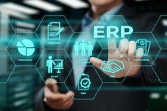 Ресурс предприятия планируя концепцию технологии интернета дела руководства фирмы ERP корпоративную стоковое фото rf