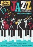 Ретро абстрактный плакат джазового фестиваля Стоковое Изображение RF
