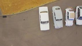 Ретро автомобили на Outdoors выставки видеоматериал
