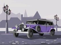 ретро автомобиля пурпуровое Стоковое Фото