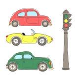 Ретро автомобили Иллюстрация вектора