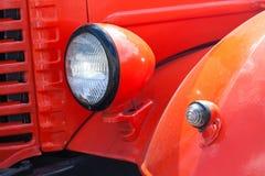 Ретро автомобильная лампа Красный цвет Стоковые Фотографии RF