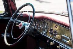 ретро автомобиля нутряное Стоковые Фотографии RF